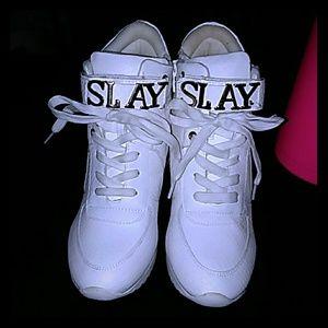 Shoedazzle wedges/sneakers